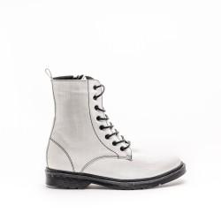 Croco White Boots 416