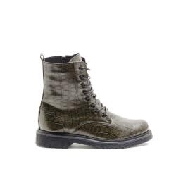 Croco Khaki Boots 417