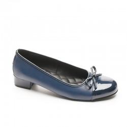GIGI Leather Ballet Navy 459